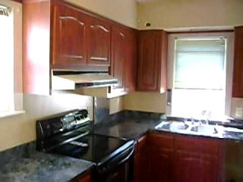 Cherry Cabinets Pergo Floor Black Appliances New Kitchen Blue Formica Counter Tops YouTube