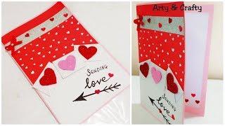 Valentine Day Card/Handmade Card Ideas/Anniversary Card/Easy Card for Boyfriend by Arty & Crafty
