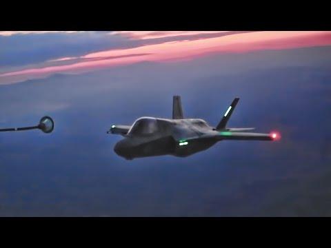 Inflight Refueling: KC-130J Air Tanker to F-35B Fighter Jets