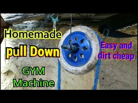 How To Make A Homemade Pull Down Machine Workout For Triceps