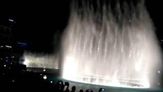 The prayer - fountain show at the Burj Kalifa