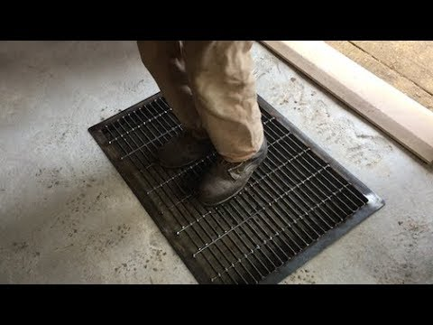 Download Youtube: Nick welds up a steel grate -- here's what goes in that pit in our mudroom!