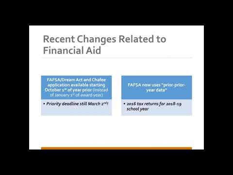1/17/2018 Financial Aid for Foster Homeless Youth, Part I Completing the FAFSA