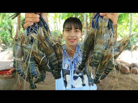 Yummy cooking river prawn stir with vegetable recipe - Cooking skill