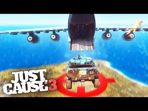CARGO PLANE DESTRUCTION STUNTS! - Just Cause 3 Stunts & Challenges!