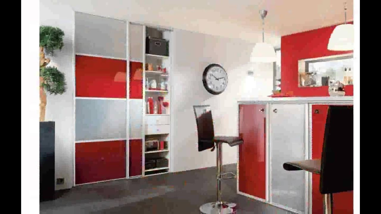 decoration cuisine rouge youtube. Black Bedroom Furniture Sets. Home Design Ideas