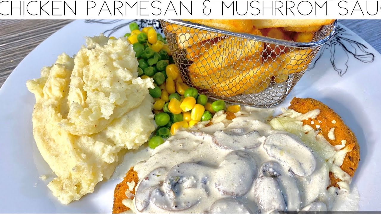 CHICKEN PARMESAN WITH A CREAMY MUSHROOM SAUCE- Quick And Easy | Nargis' Kitchen