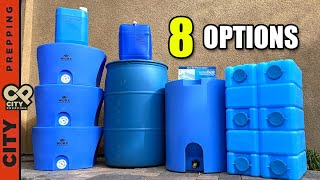 8 Best Water Storage Options for Emergencies