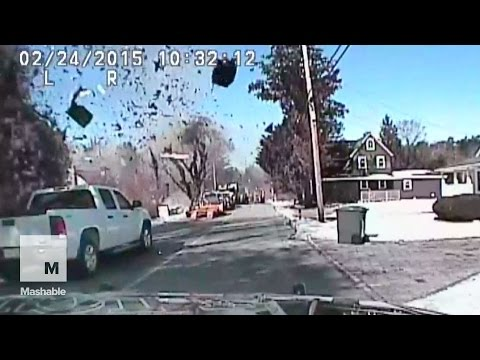 Dramatic house explosion in New Jersey captured on police dashcam | Mashable