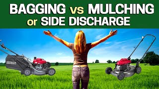 Mulching vs Bagging vs Side Discharge - Which is Best & Why to help your Lawn