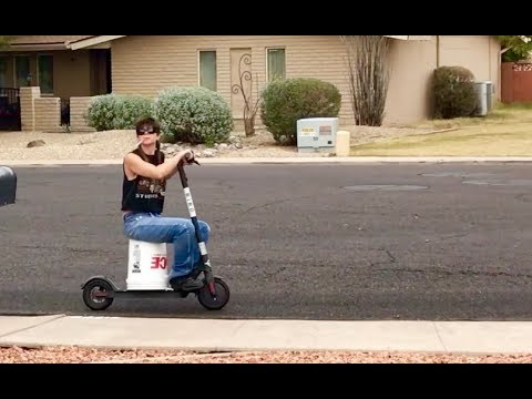 my hillbilly neighbor hot wires a bird scooter