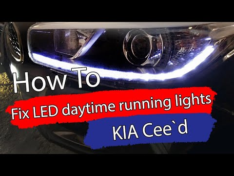 DIY / How to fix the LED daytime running lights – 2013 KIA Ceed – LED Driver DRL – Bildilla Magasin
