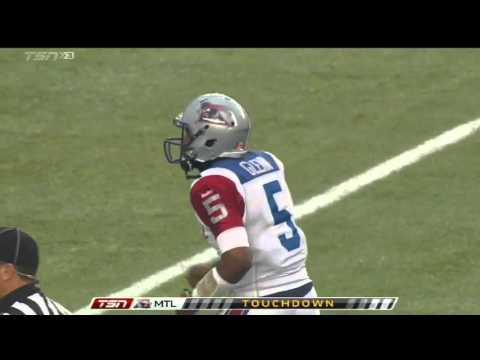 November 1, 2015 - Kevin Glenn 4 yard touchdown pass to BJ Cunningham