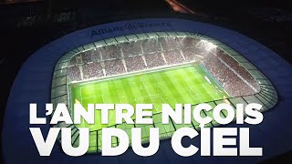 OGC Nice – St Etienne : vol en drone au-dessus de l'Allianz Riviera