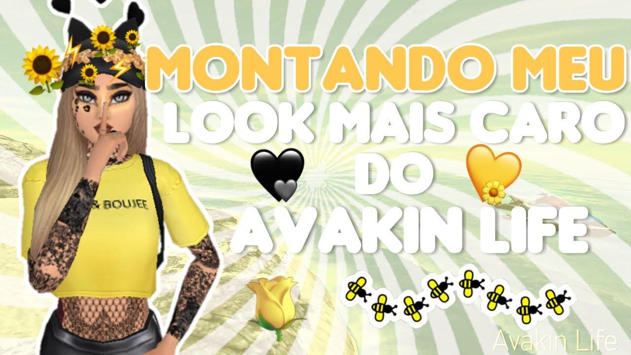 MONTANDO MEU LOOK MAIS CARO 🌝 | Avakin Life #1