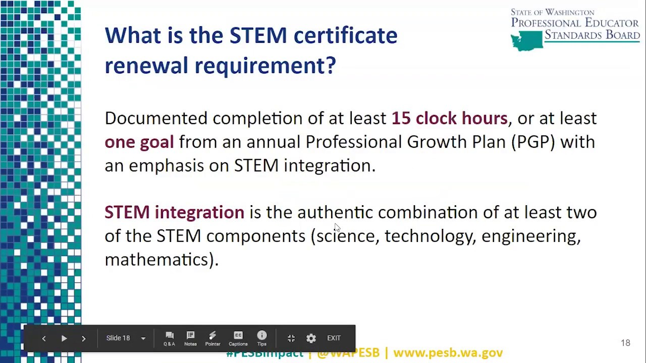 stem requirement certificate