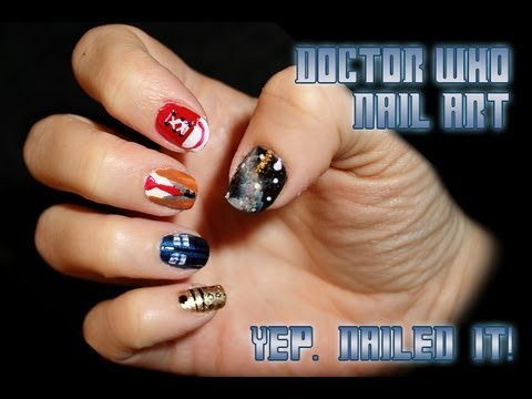 Doctor who nail art youtube doctor who nail art prinsesfo Gallery