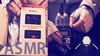 [ASMR] UNBOXING New Binaural Mic (Roland CS-10EM) + Test - FRENCH Soft Spoken