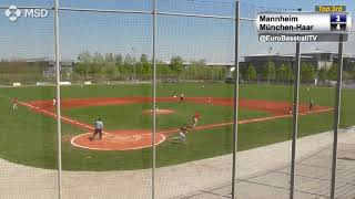 BASEBALL BUNDESLIGA Games 7 & 8: München-Haar Disciples vs. Mannheim Tornados HIGHLIGHTS
