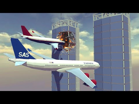 Satisfying destruction, Mid-air collisions and more | Feat. Airbus a340 | Besiege