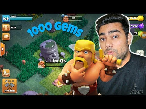 Removing Old Barbarian Statue | Will I Get 1000 Gems | Clash Of Clan (hindi)