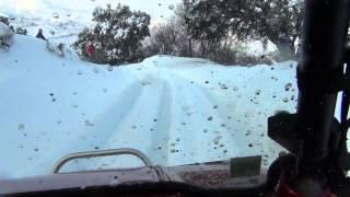 ballade 4X4 avec la neige en Corse