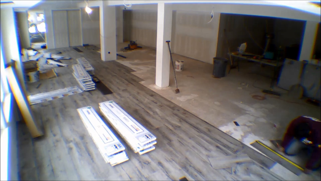 Resista Vinyl Flooring Install Time Lapse