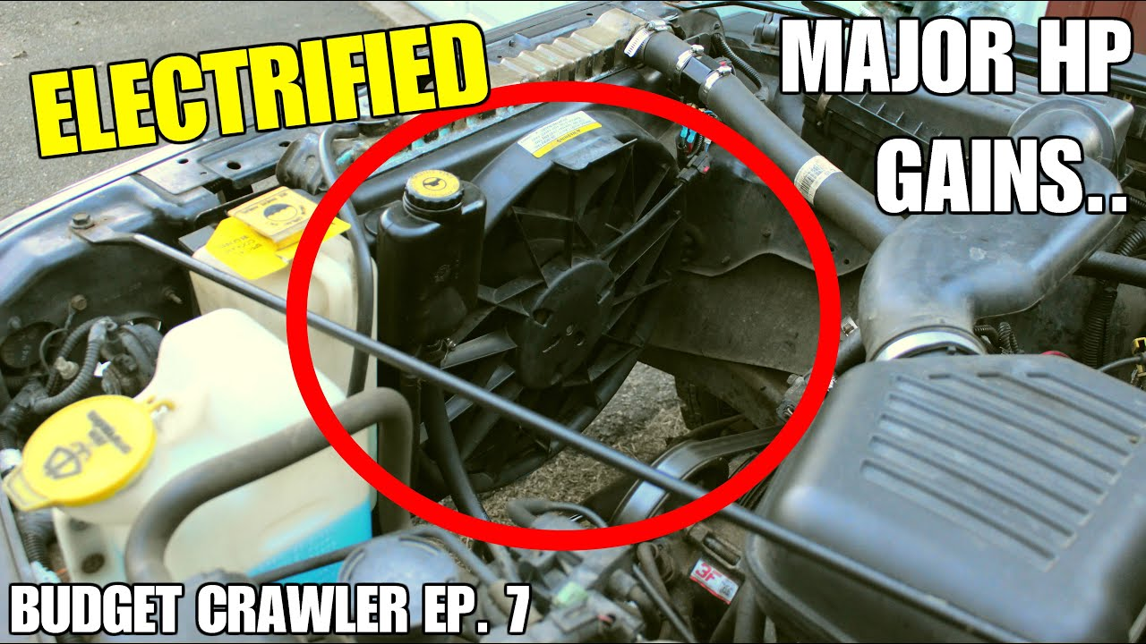 electric fan install on the jeep tj | budget crawler ep  7