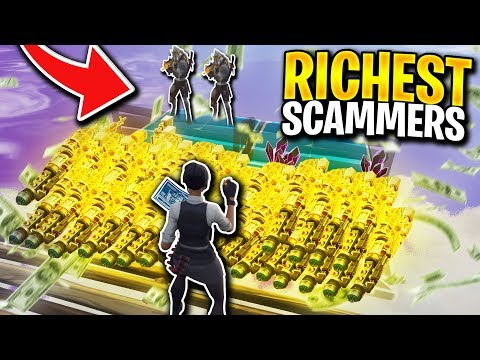 Two RICHEST Scammers Lost  WHOLE INVENTORY! (Scammer Gets Scammed) Fortnite Save The World
