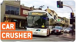 City Bus Crashes Into Car | Crushed It