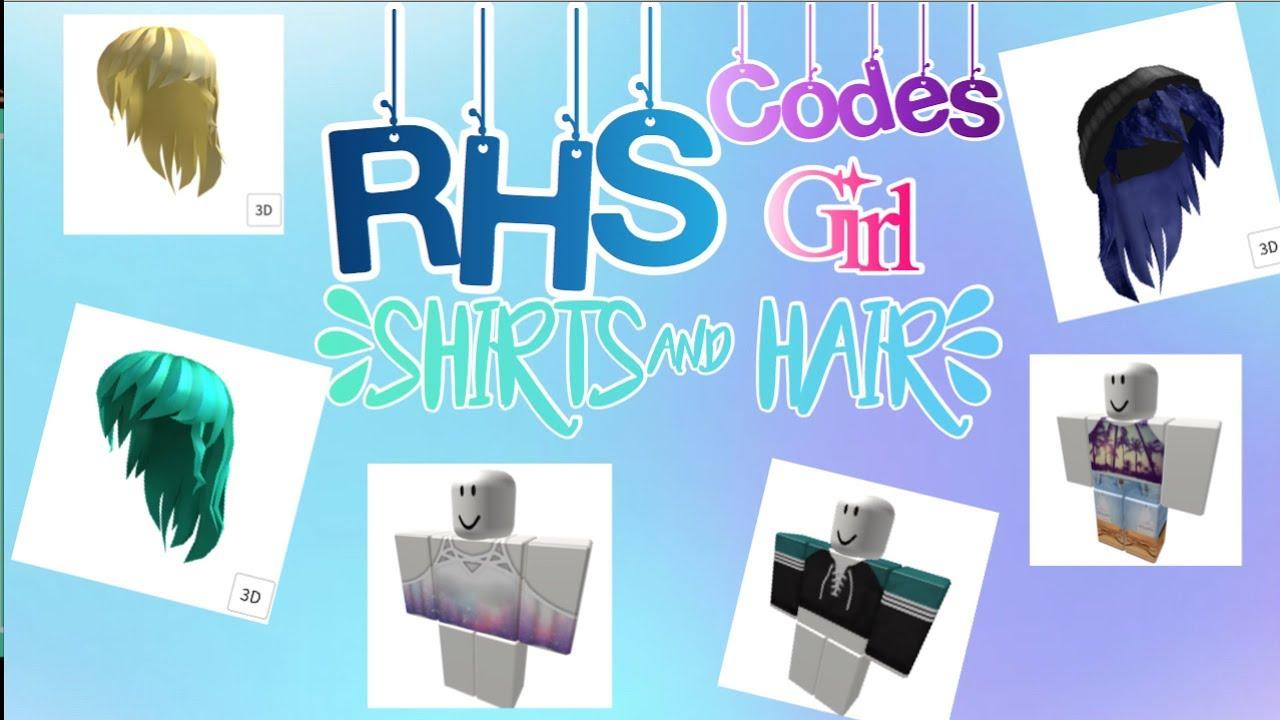 Cool Blue Girl Hair Code In Roblox High School Rhs Custom Outfit Codes Girl Hair By Lackie Chan
