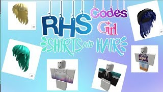 RHS: GIRL OUTFIT & HAIR CODES| Roblox Highschool| Travellers Of Roblox