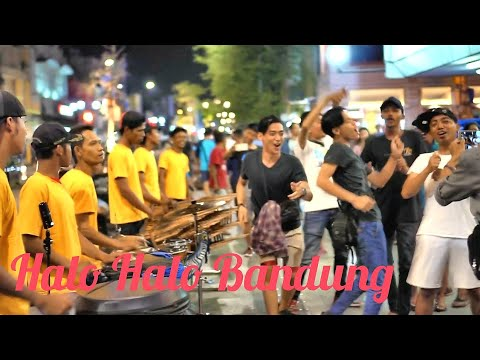 Halo Halo Bandung - Angklung Malioboro Carehal bareng Suporter Persib Bandung (Pengamen Jogja)