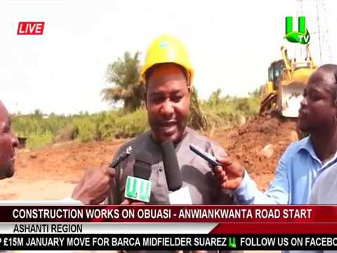 Construction Works On Obuasi - Anwiankwanta Road Start