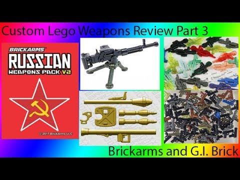 Custom Lego Weapons Review: G.I. Brick Brickarms Part 3