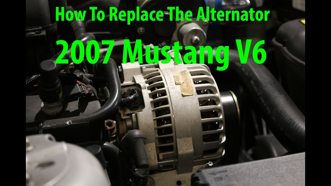 How To Replace 2007 Mustang Alternator