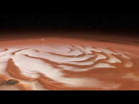 Survolez le pôle nord de Mars (Mars Express)