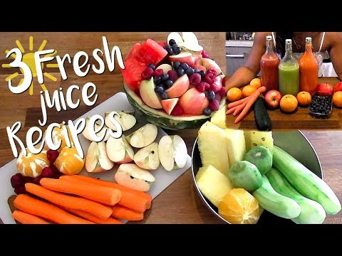 3 Fresh Juice Recipes   Vegan