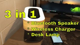 3 in 1 Bluetooth Speaker/Wireless Charger/Desk Lamp:  Light of the Tree from Cshidworld