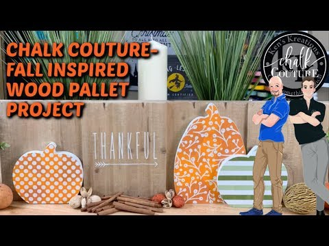 CHALK COUTURE- FALL INSPIRED WOOD PALLET PROJECT