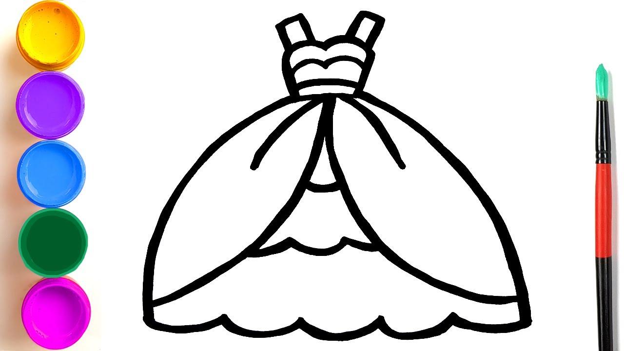 Ensinar uma criança a desenhar uma princesa que se veste | a criança ensina a desenhar em etapas