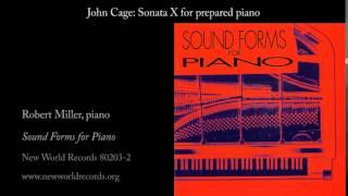 John Cage: Sonata X for prepared piano