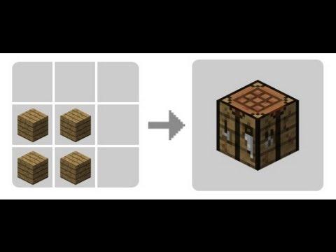 Como hacer una mesa de crafteo en minecraft youtube - Como hacer una mesa de ordenador ...