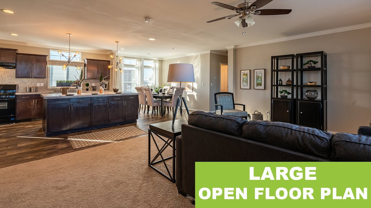 Look At The Large OPEN FLOOR PLAN In This Manufactured Home