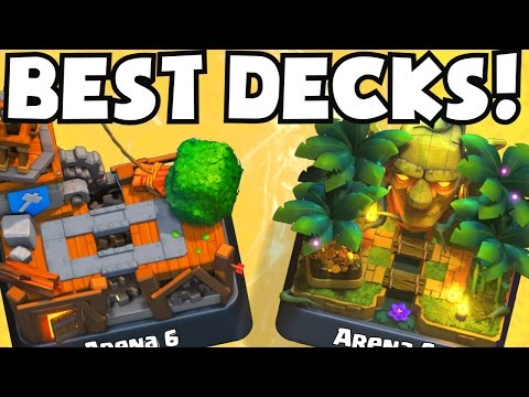 Clash Royale BEST DECK FOR ARENA 6 ARENA 9 DECKS UNDEFEATED | BEST ATTACK STRATEGY TIPS F2P PLAYERS