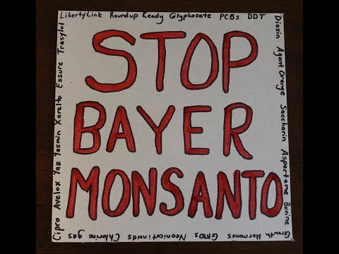 Extremely Lo-Fi One-Woman March Against Bayer Monsanto May 19, 2018