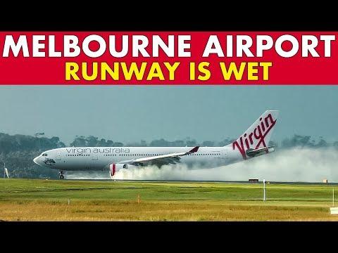 Melbourne Airport WET RUNWAY