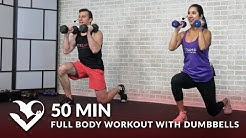 50 Min Full Body Workout with Dumbbells - Total Body Strength Workout with Weights at Home Training