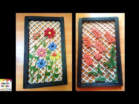 DIY Wall decor frame   Newspaper craft