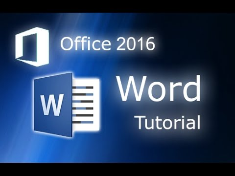 Microsoft Word 2016 Full Tutorial For Beginners